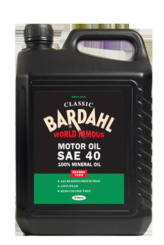 Single grade classic motor oil sae 40 bardahl bardahl for Motor oil for older cars
